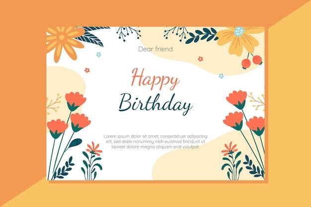Feliz aniversário cartão conceito