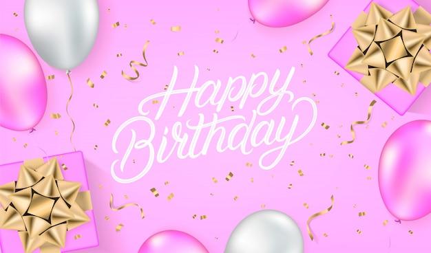 Feliz aniversário cartão festivo