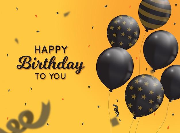 Feliz aniversário cartão fundo