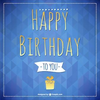 Feliz aniversário cartão lettering
