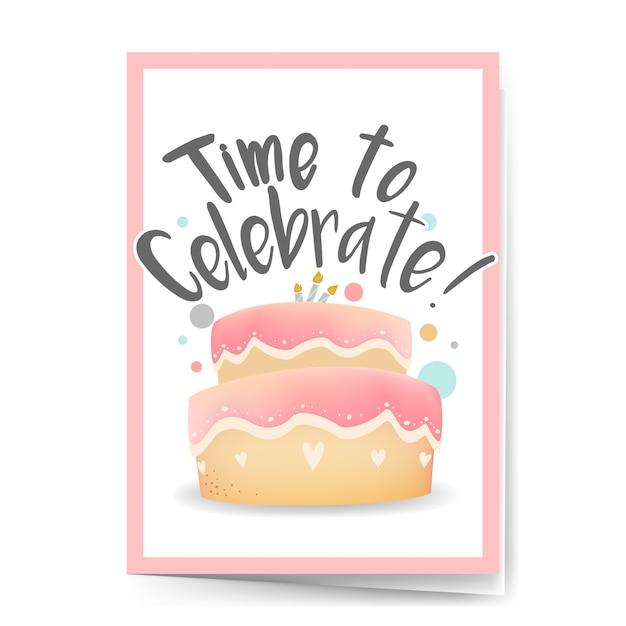 Feliz aniversário cartão projeto vector