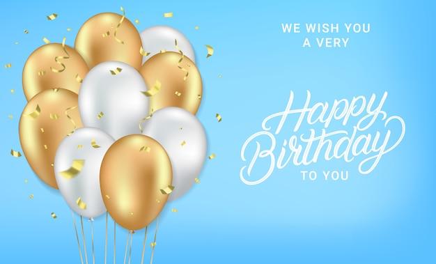 Feliz aniversário cartão realista