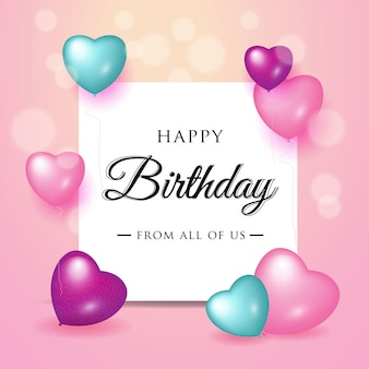 Feliz aniversário celebração tipografia design para cartão