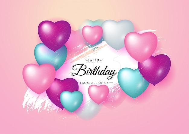 Feliz aniversário celebração tipografia design.