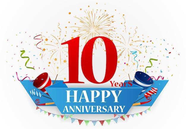 Feliz aniversário comemoração design