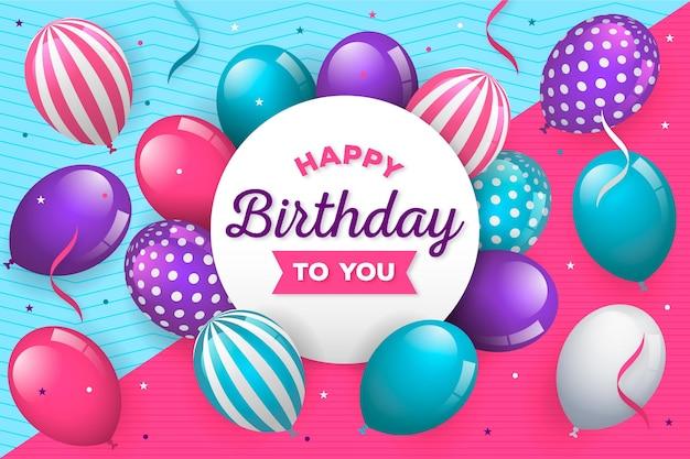 Feliz aniversário conceito com balões