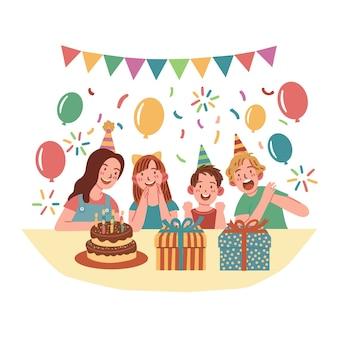 Feliz aniversário, conceito