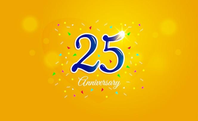 Feliz aniversário de 25 anos.