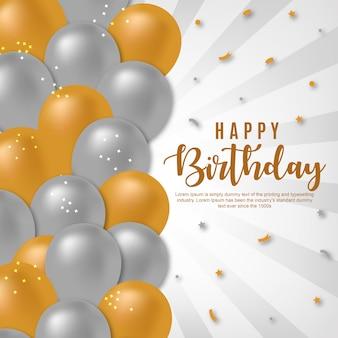 Feliz aniversário de fundo vector