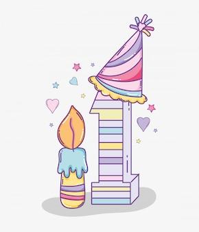 Feliz aniversário, decoração, para, um, ano, celebetration