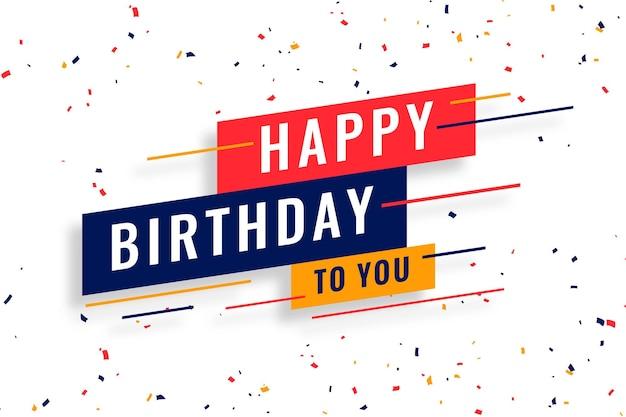 Feliz aniversário deseja celebração com design de cartão