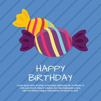 Feliz aniversário desenhos de celebração com vetor de estilo único
