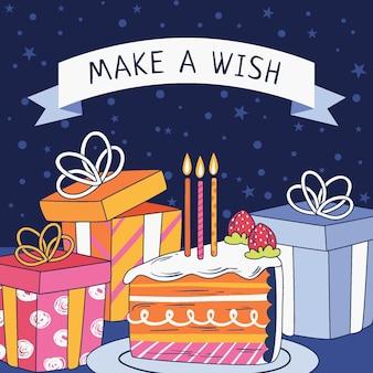 Feliz aniversário design convite