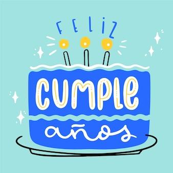 Feliz aniversário design de letras