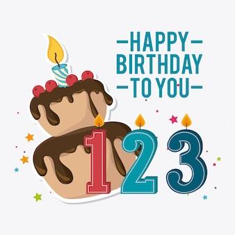 Feliz aniversário design.