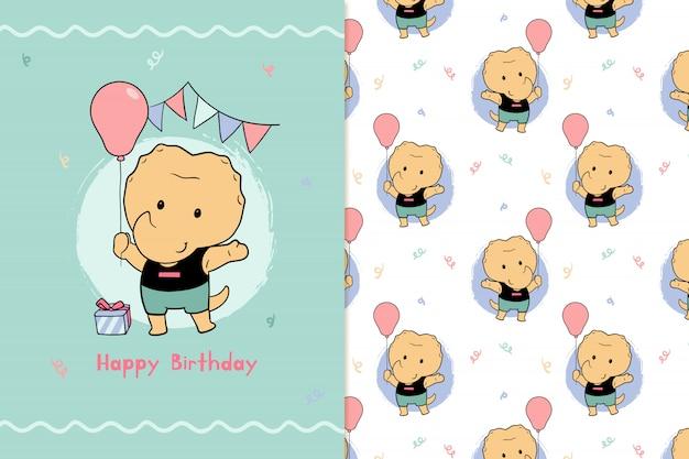 Feliz aniversário dyno padrão