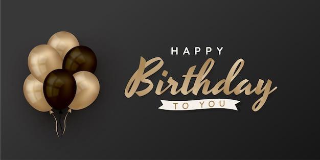 Feliz aniversário escrevendo com balões