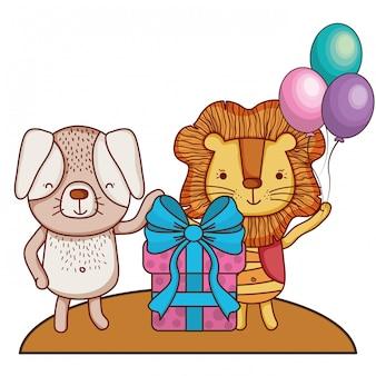 Feliz aniversário fofos animais