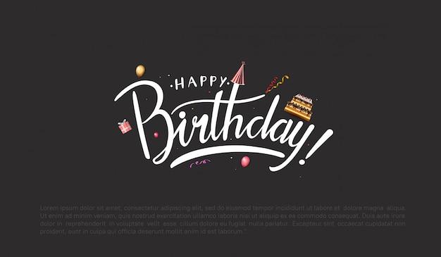 Feliz aniversário fundo com balões