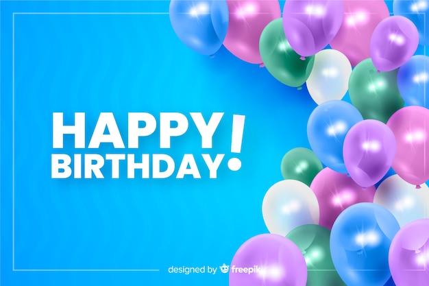 Feliz aniversário fundo realista