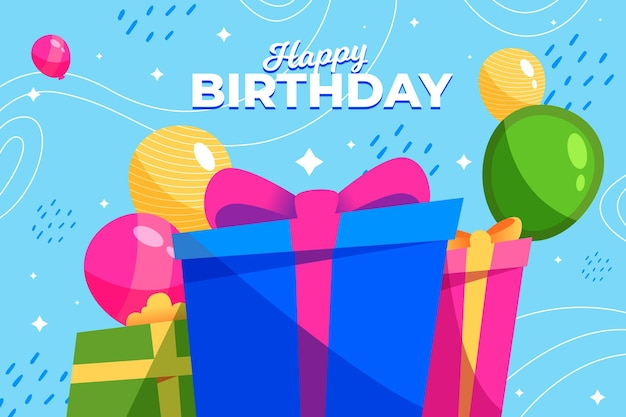 Feliz aniversário fundo