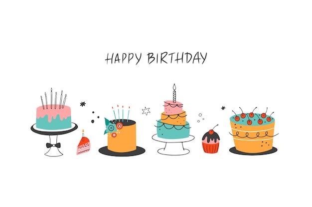 Feliz aniversário ilustração