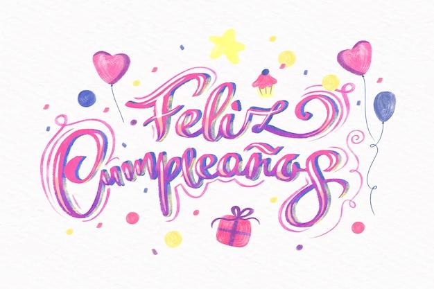 Feliz aniversário letras conceito