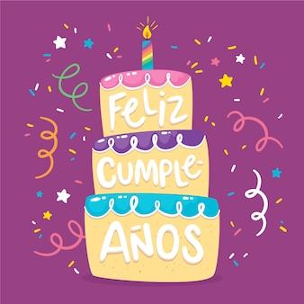 Feliz aniversário letras design