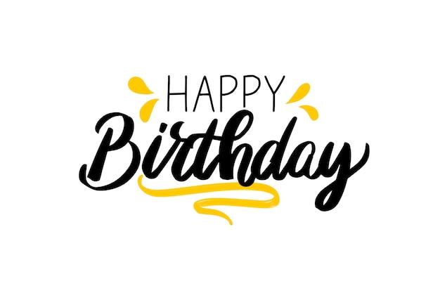 Feliz aniversário lettering