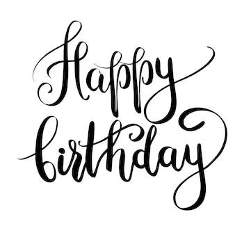 Feliz aniversário, lettering