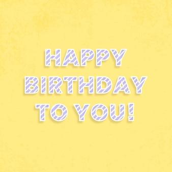 Feliz aniversário para você cartão de felicitações