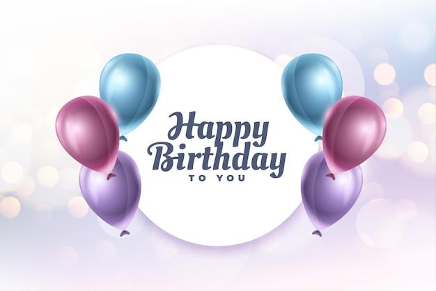 Feliz aniversário para você design de cartão de felicitações