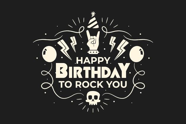 Feliz aniversário para você fundo metalhead interno