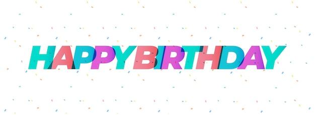 Feliz aniversário para você modelo de banner