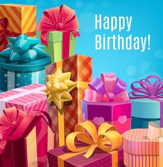 Feliz aniversário, presentes e presentes de natal