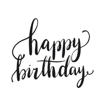 Feliz aniversário tipografia estilo vector