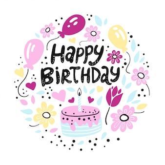 Feliz aniversário. uma cópia bonito do aniversário