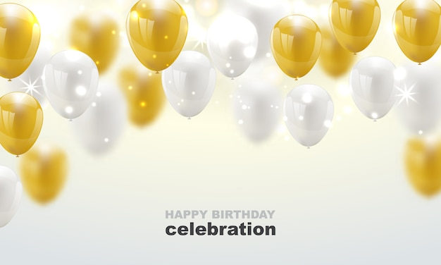 Feliz aniversário vector festa de celebração