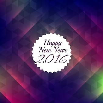 Feliz ano novo 2016 com fundo colorido