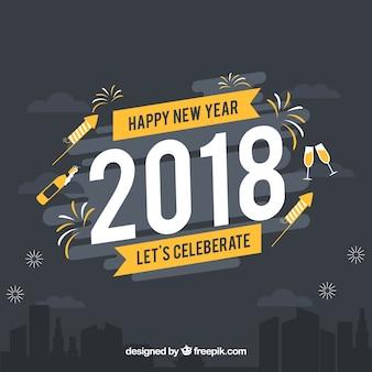 Feliz ano novo 2018 celebremos