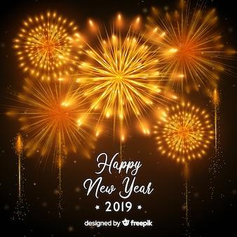 Feliz ano novo 2019 background
