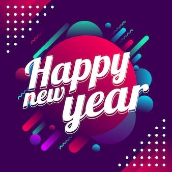 Feliz ano novo 2019 banner fundo