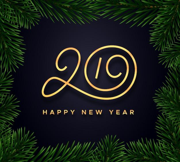 Feliz ano novo 2019 cartão
