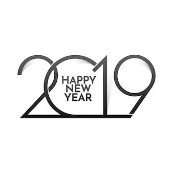 Feliz ano novo 2019 de fundo.