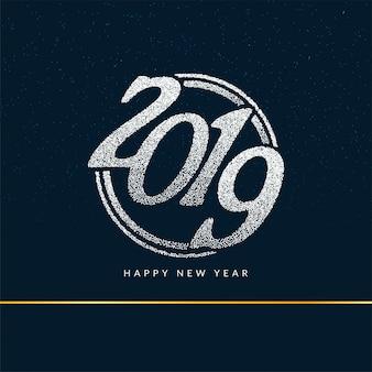 Feliz ano novo 2019 elegante fundo de saudação
