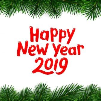 Feliz ano novo 2019 fundo. banner de vetor