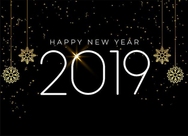 Feliz ano novo 2019 fundo sazonal