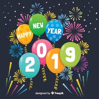 Feliz ano novo 2019 fundo