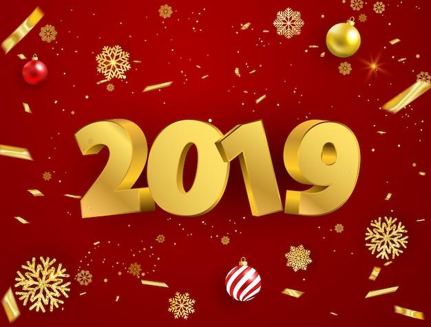 Feliz ano novo 2019 fundo.