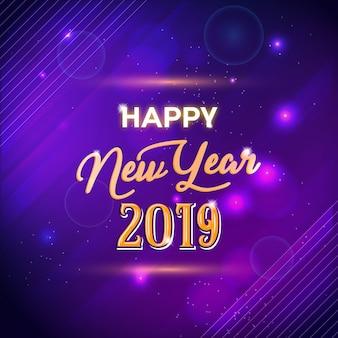Feliz ano novo 2019 luz de fundo